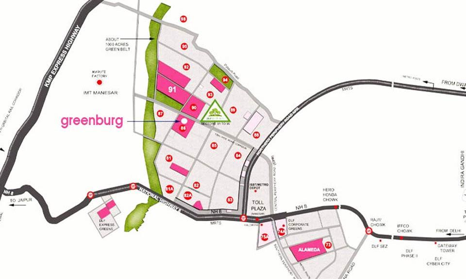 Microtek Greenburg Gurgaon Location Map