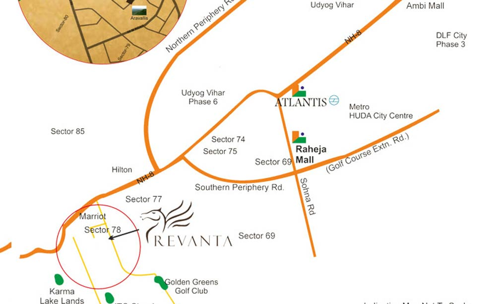 Raheja Revanta Location Map