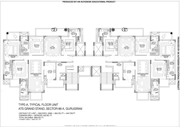 Gurgaon Gateway 2bhk floor plan