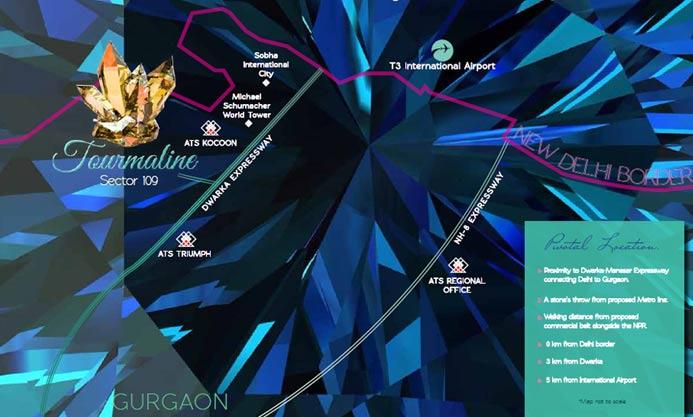 ATS Tourmaline Location Map