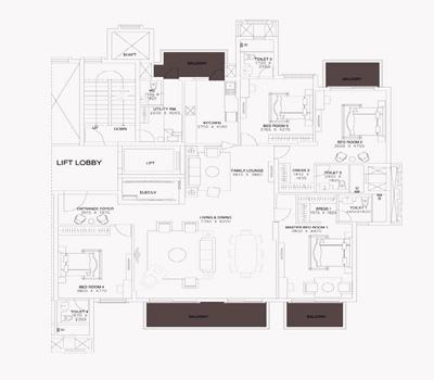 ats triumph apartments floorplan 4bhk 3150