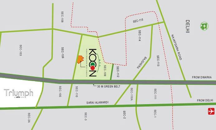 ATS Triumph Location Map