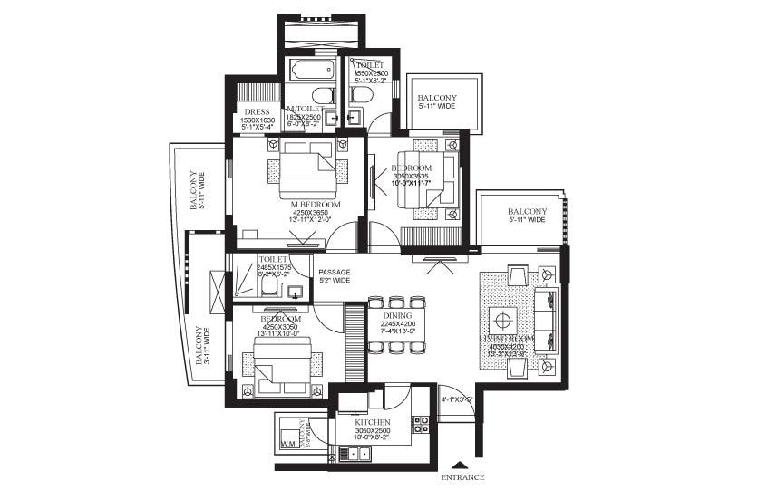 1799 sq.ft. the primus floor plan