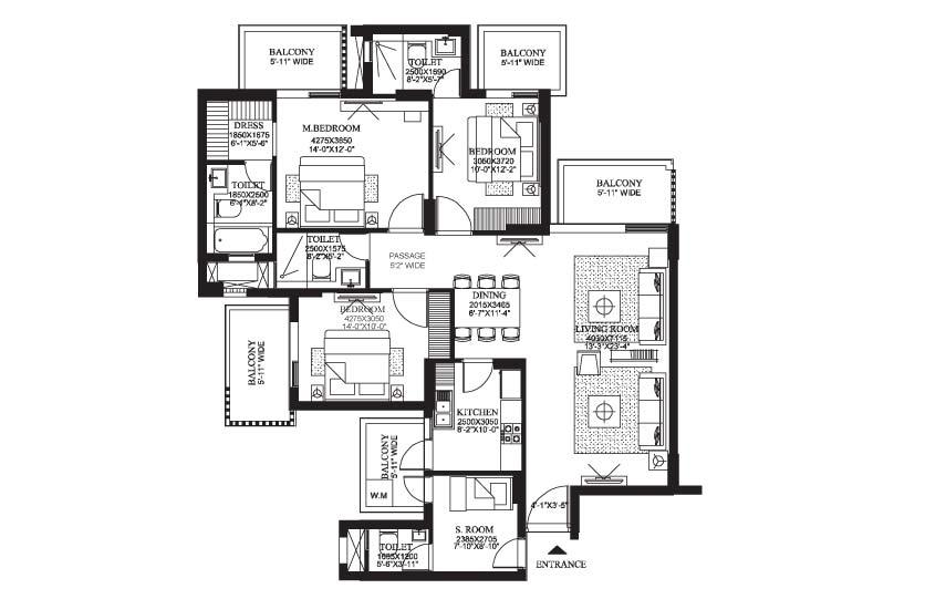 2066 sq.ft. the primus floor plan