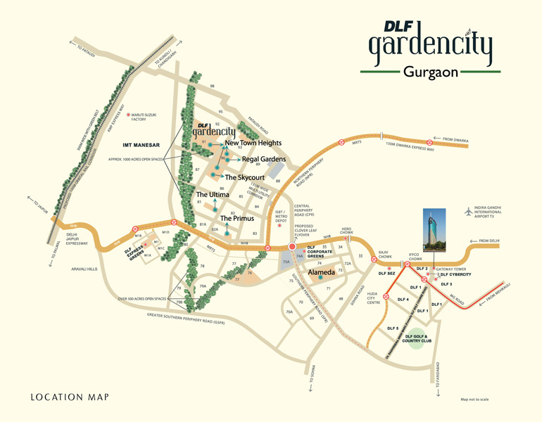 DLF Regal Gardens Location Map