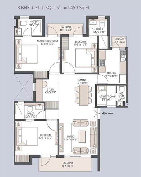 Emaar Palm Hills Sector 77 Gurgaon By Emaar Mgf Price Floor Plan