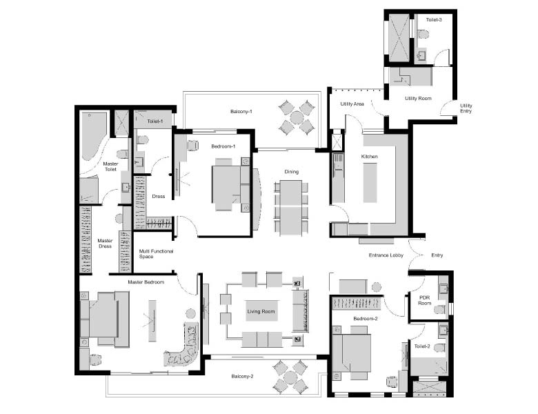 Experion windchants luxury apartments dwarka expressway for 3600 sq ft house plans