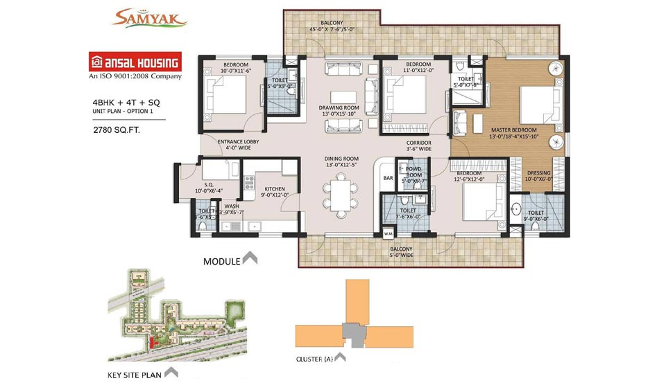 Ansal Heights 86 2780 Sqft 4BHK
