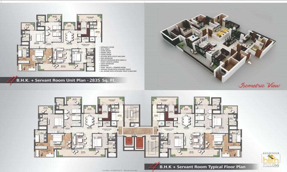 Assotech Blith Gurgaon Floor Plan