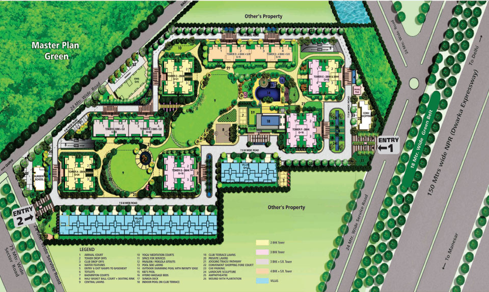 Assotech Blith Gurgaon Master Plan
