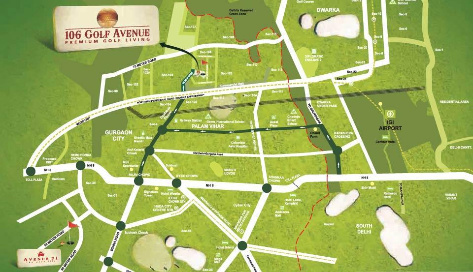 CHD Golf Avenue Location Map