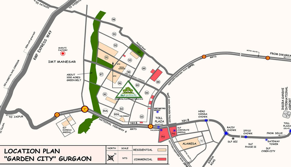 DLF Garden City Location Map