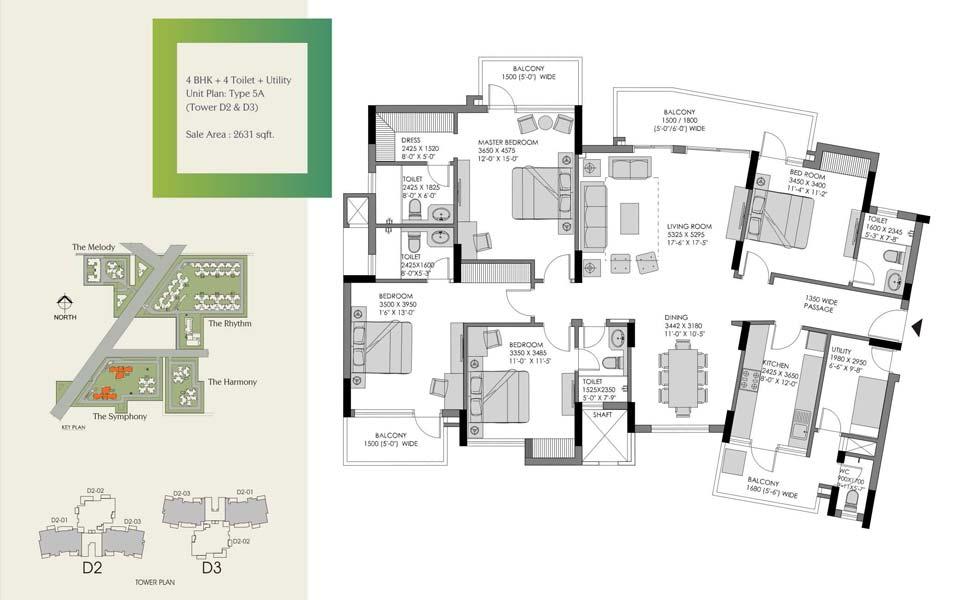 Experion Heartsong Floor Plan