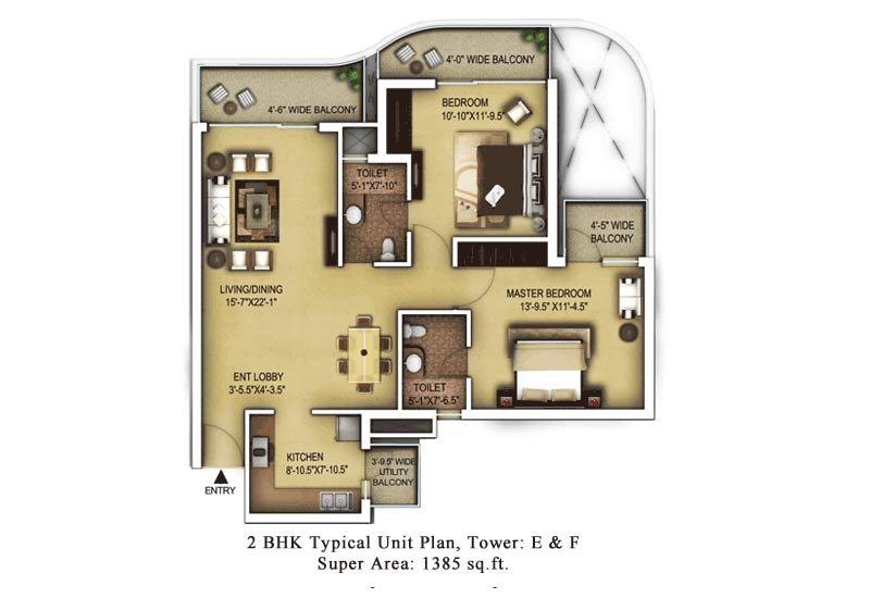 Paras Dews Gurgaon Floor Plan