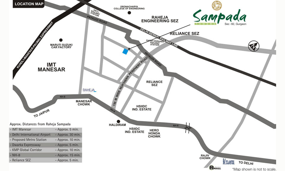 Raheja Sampada Location Map