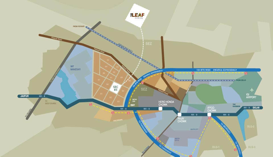 The leaf Location Map
