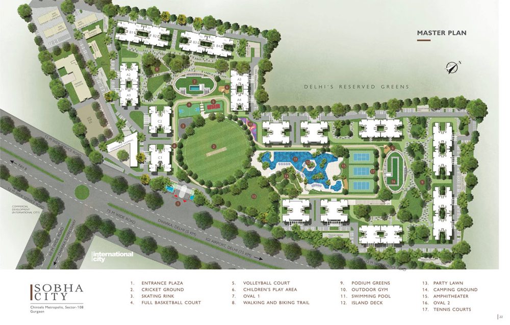 Sobha City Gurgaon Master Plan