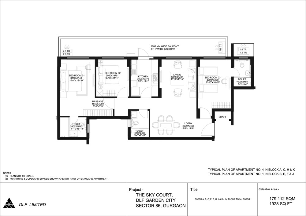 tata la vida 2BHK Floor Plan
