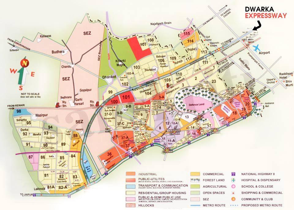 Dwarka Expressway Map