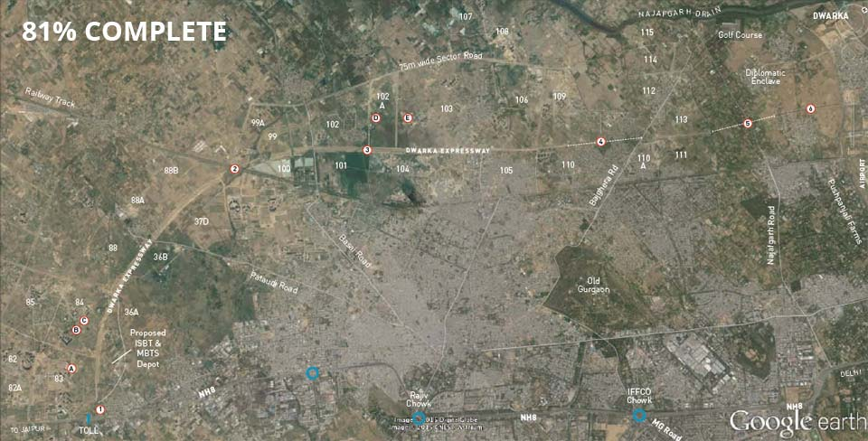 google-earth-map-of-dwarka-expressway