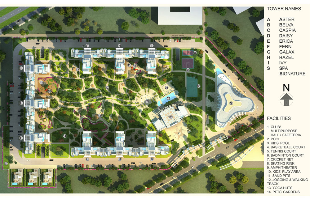 master plan of DLF Skycourt