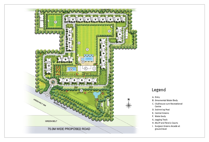 master plan of EMaar gurgaon greens