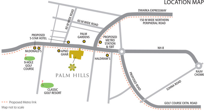 location map of emaar palm hills
