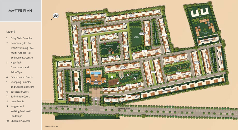 Emaar Palm Hills 3 4 Bhk Apartments Dwarka Expressway Projects Map