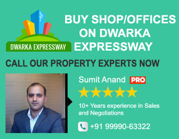 Buy shops/offices on dwarka espressway