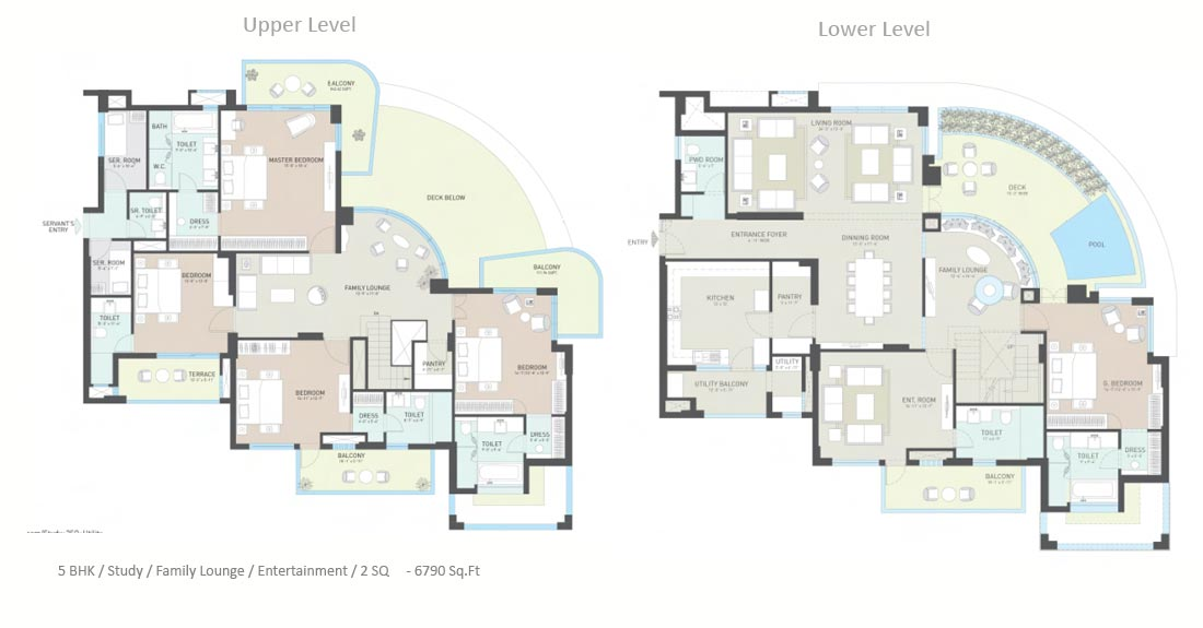 indiabulls-enigma-penthouse-6790 Luxury Pent House With Gym Building Floor Plan on