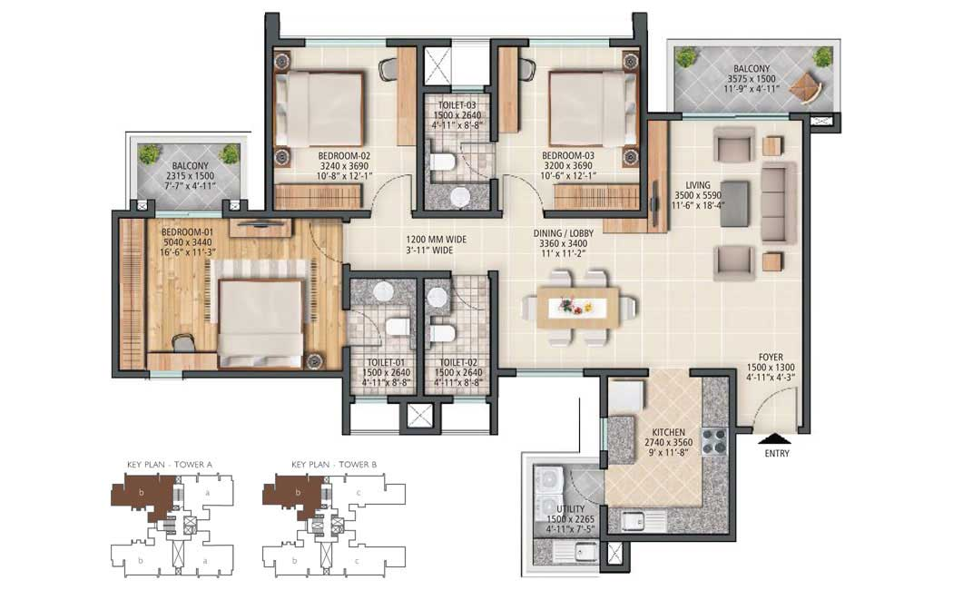 Sobha City Gurgaon Floor Plans