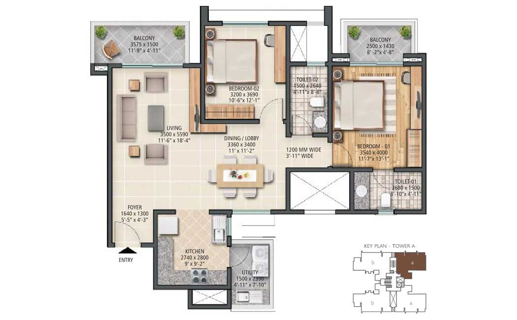 Sobha City Gurgaon Floor Plan
